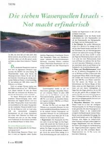 Ari KKL NEULAND 4 2001 Die 7 Wasserquellen Israels - Not macht erfinderisch Seite 1