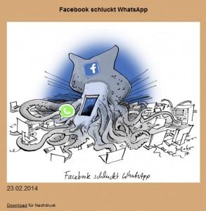 Die neue überarbeitete Karikatur der SZ 28.2.2014 Abends