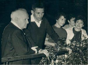 Lerner mit Ben Gurion 1956