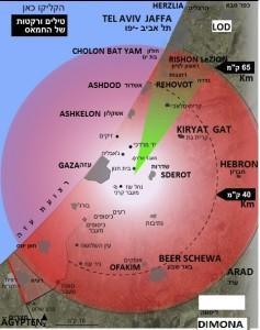 Raketen von Gaza auf Israel 7.7.2014