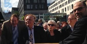 v.l.n.r. Ari Lipinski mit IRGW-Vorstandsmitglieder Michael Kashi und Susanne Jakubowski und Dr. Dan Shaham - Israels Generalkonsul 14.5.2014